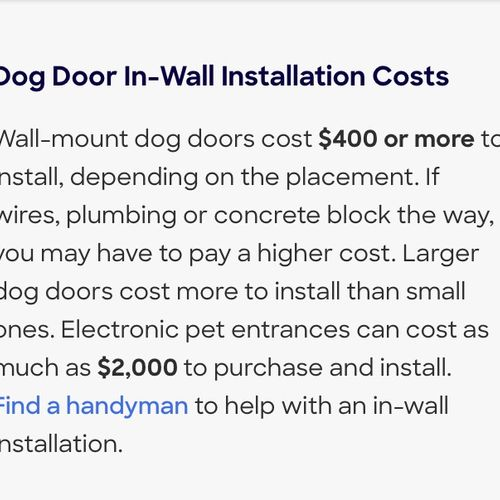 Any questions? Please feel free to text me 4805689049  In Wall Installs are between $210 & $280 with me. 3 to 4hrs