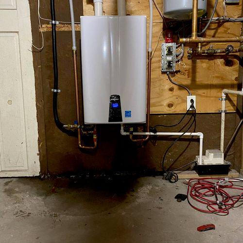 new navien on demand water heater installation