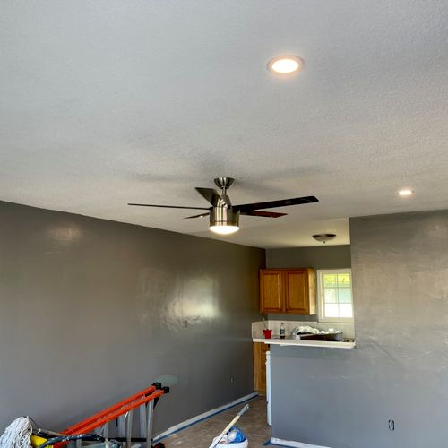 Installation of new fan and recess lighting