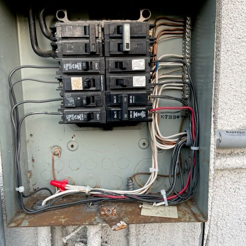 Rewire with new grounding system for whole house.