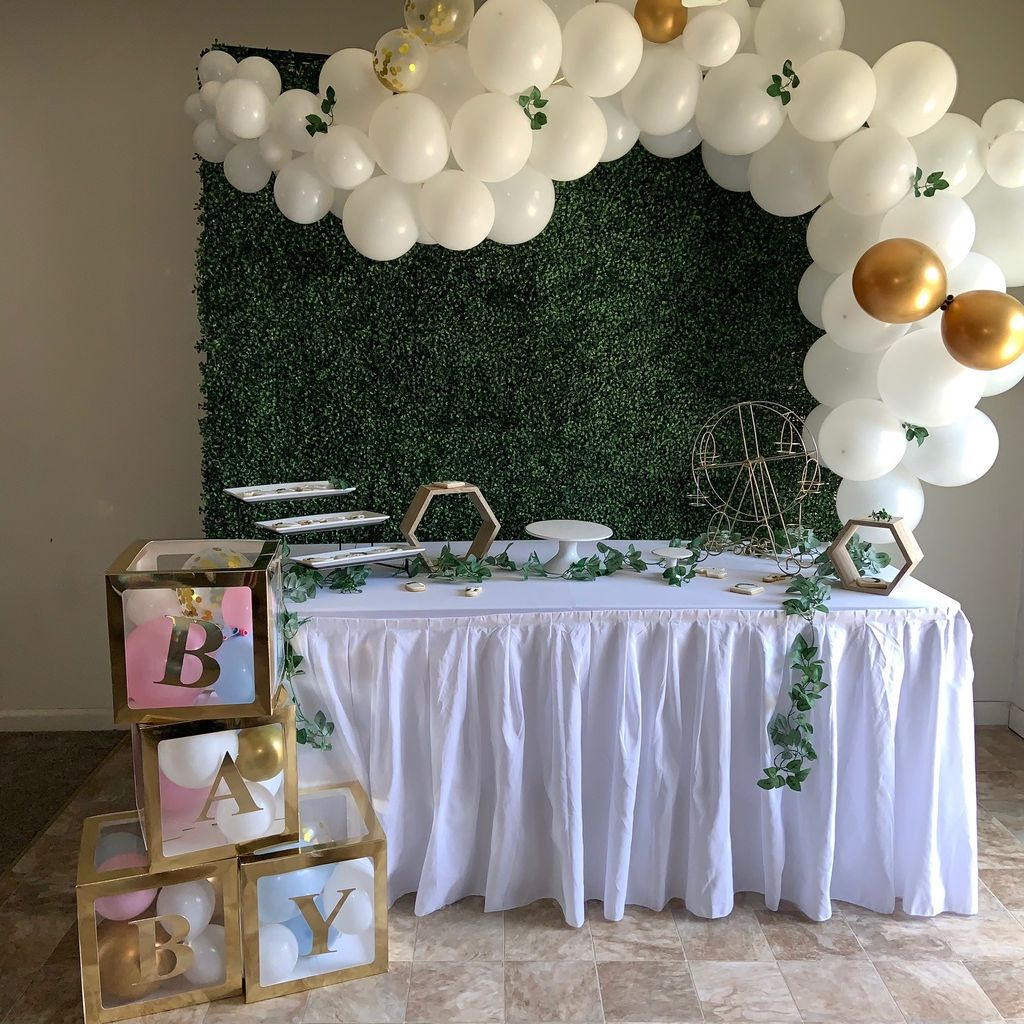 Dessert Table with Balloon Garland