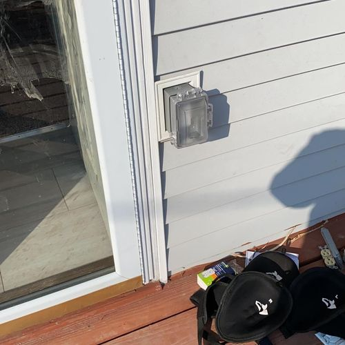 Exterior outlet installed