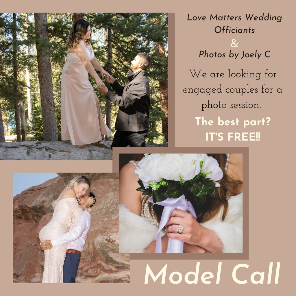 Engagement Photos Model Call