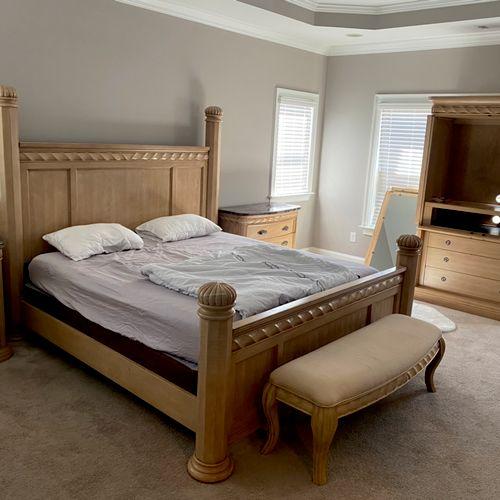 After... assembled new bedroom