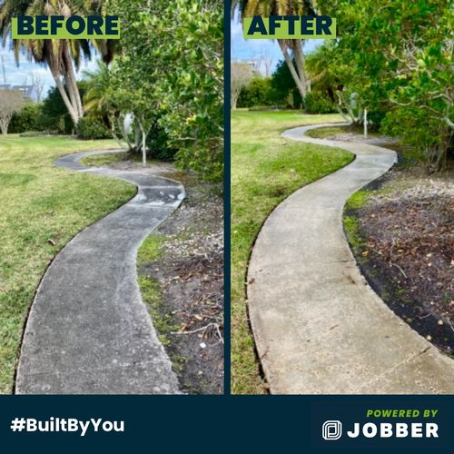 Walkway Before and After