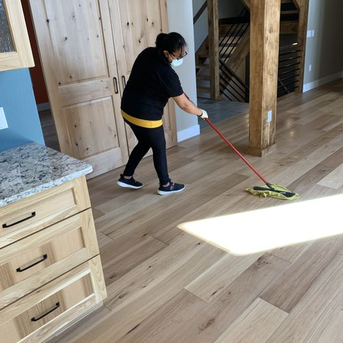 will mop all floors twice if needed