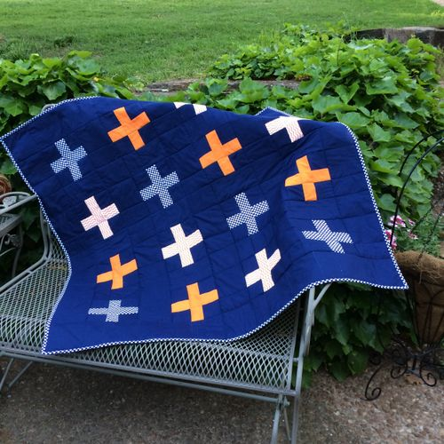 """""""Plus"""" Sign Baby Quilt - very popular!"""