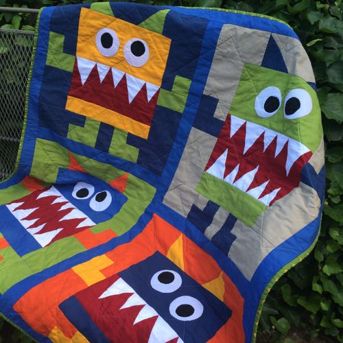 """""""Monster"""" Baby Quilt"""