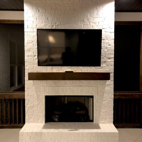 TV Mount in Brick