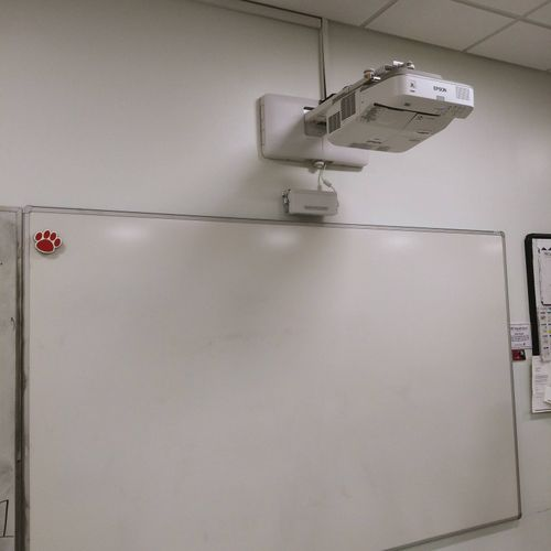short-throw interactive projectors in elementary and middle schools.