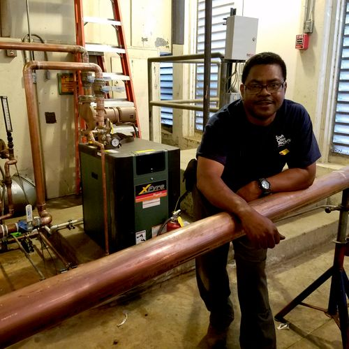 boiler install at Pierce College