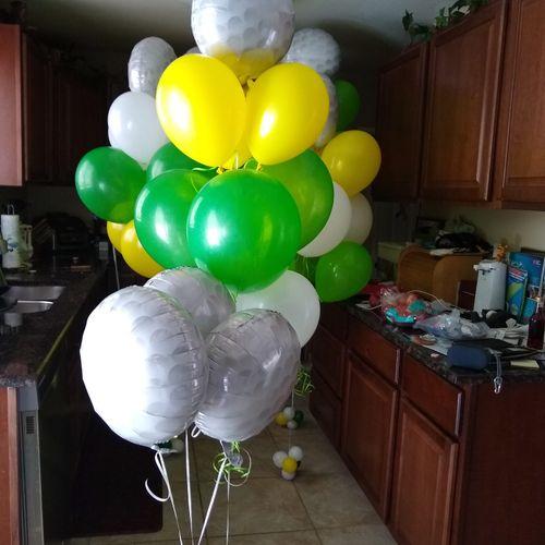 Helium Balloon Golf Ball