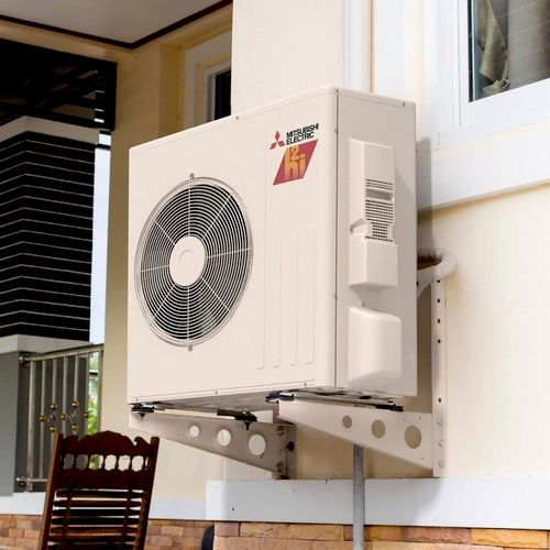 Mini split system very nice quiet operation provides heating and cooling