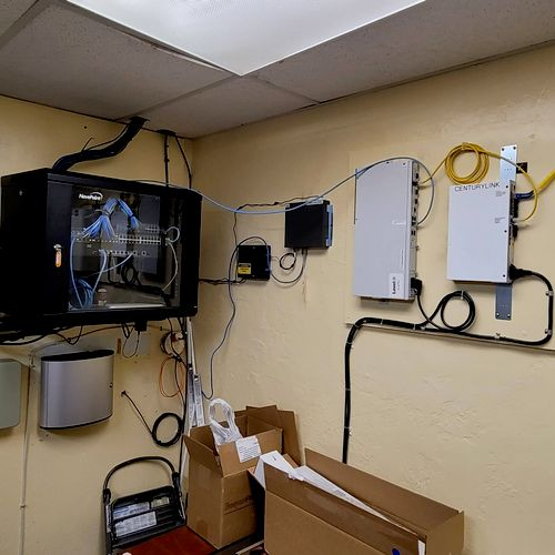 Fiber and network install for a small satellite office.