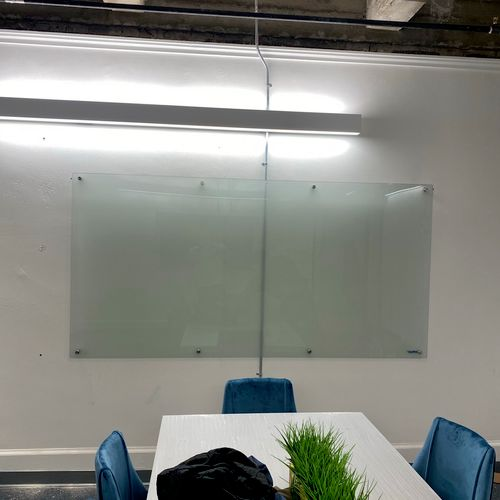 Office whiteboard transport & wall mounted. all done in house!