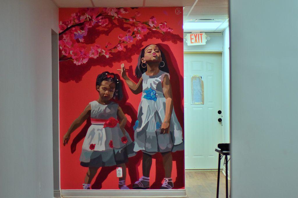 nail salon mural 5x10