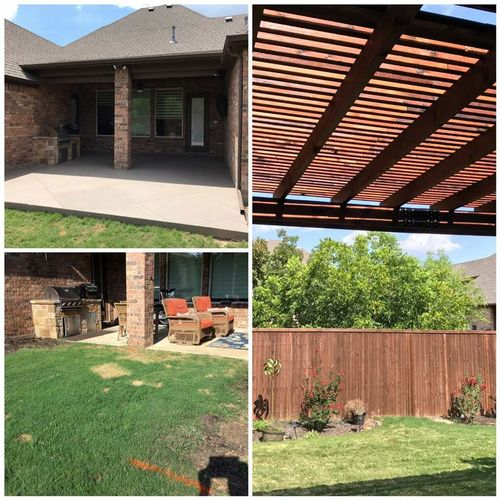 Before & After Patio Extension and Pergola Added