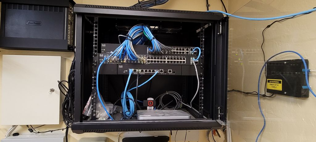 Install network and fiber connection