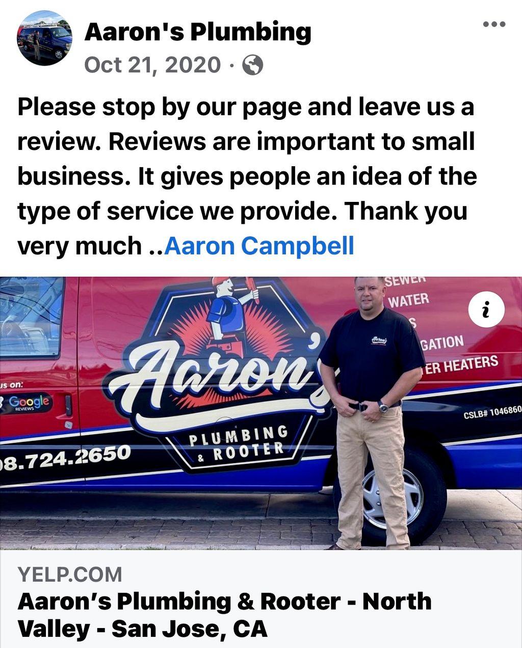 Aaron's Plumbing & Rooter