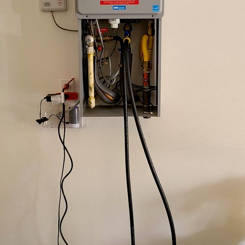 tankless water heater cleaning.