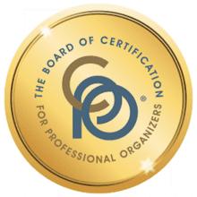 Board Certified Professional Organizer