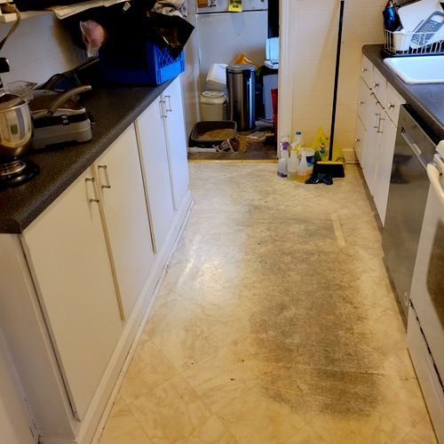 after kitchen cleaning