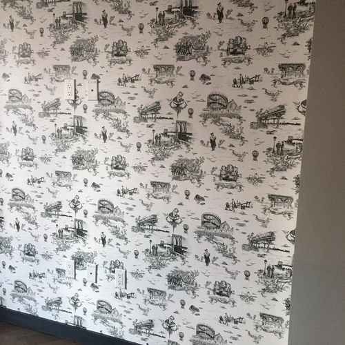 wall paper installed 😍
