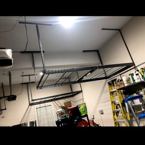 Garage space saver installation!