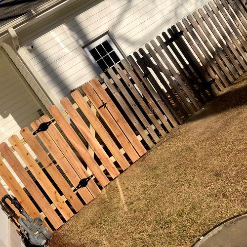 Custom gate build and  installation!