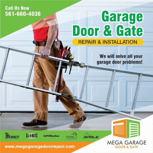 Mega Garage Door & Gate Services will solve all your garage door and gate problems! Call Us Now!