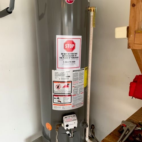 Replaced a 40 gal has water heater with new!