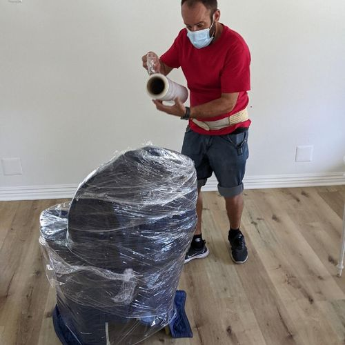 We wrap all furniture to prevent any damages