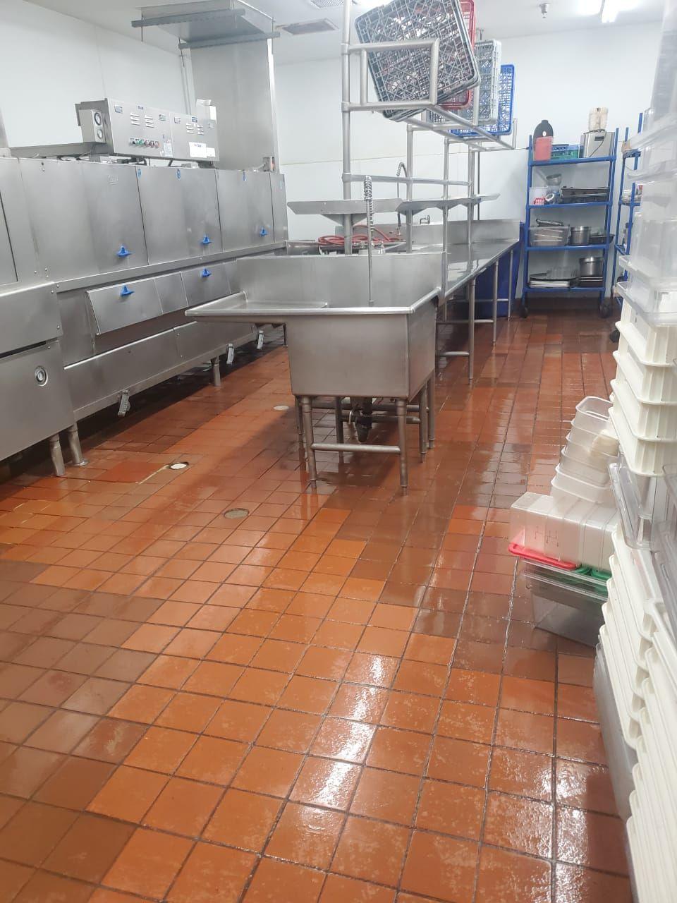 Hotel, restaurant kitchen cleaning