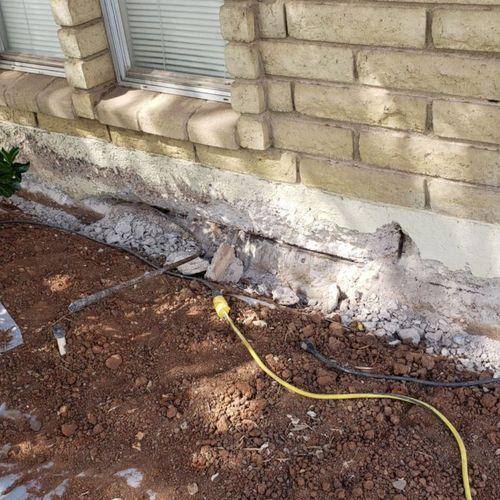 Concrete Stem Wall Repair