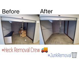 Do you have a storage unit, but no longer want it? The Heck Removal Crew is here to help! Call today for a free estimate!