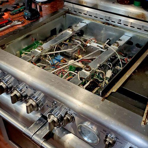 Thermador range repair.