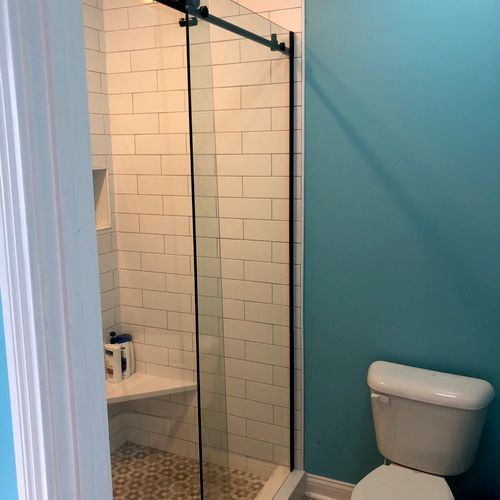 Installing a glass shower door