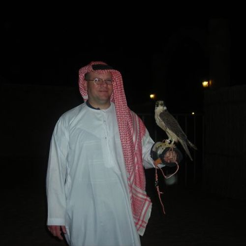 In the middle east for my previous job.