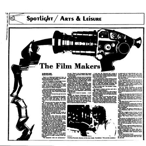Lovering Hayward, Filmaker