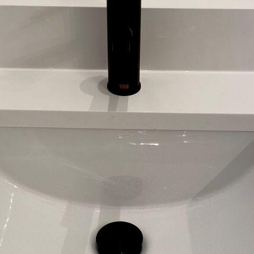 New vigo faucet with a vigo pop up drain