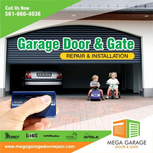 Mega Garage Door & Gate Services are here to help you with your next project. Contact Us Now!