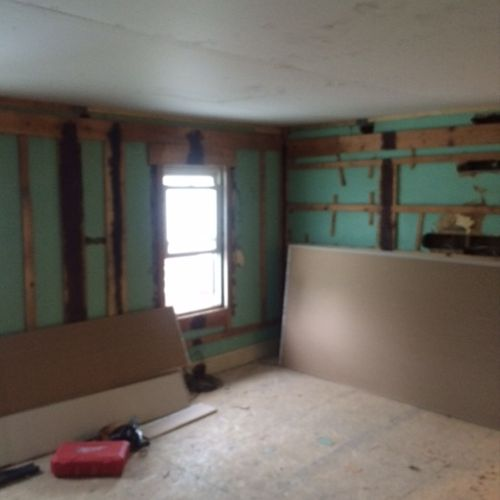 Hang and finish on old framing