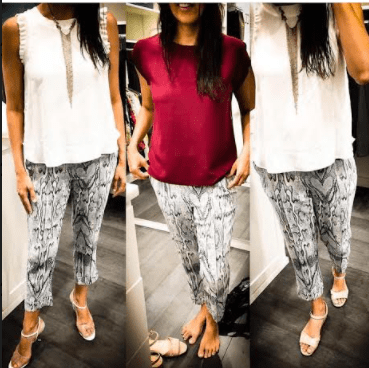 Different ways to style a pair of pants
