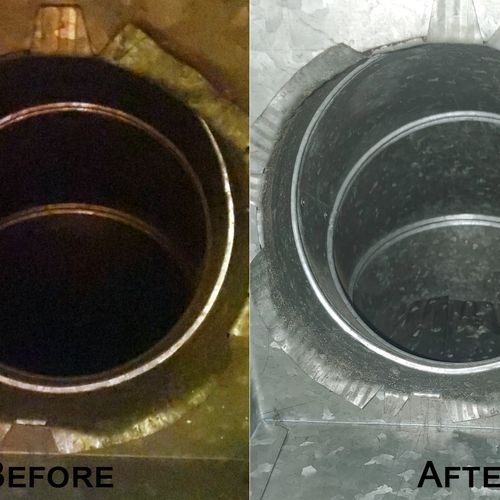Before & After our air duct cleaning service