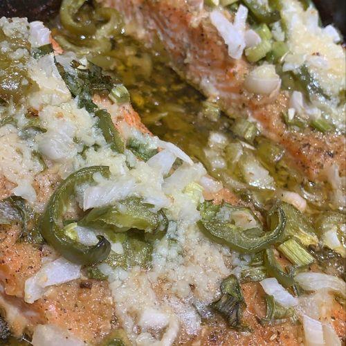 Garlic Jalapeño Salmon