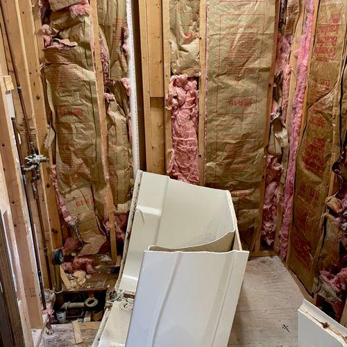 Removing tub and walls