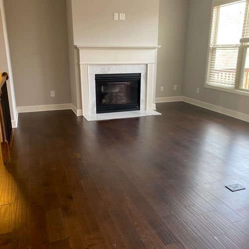 Move-In cleaning living room