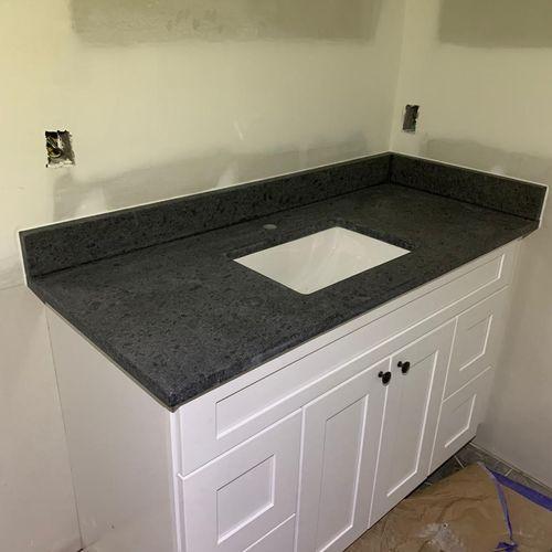 Steel Grey Leathered; Level 1 Granite Finish