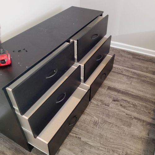 50 piece furniture assembly during