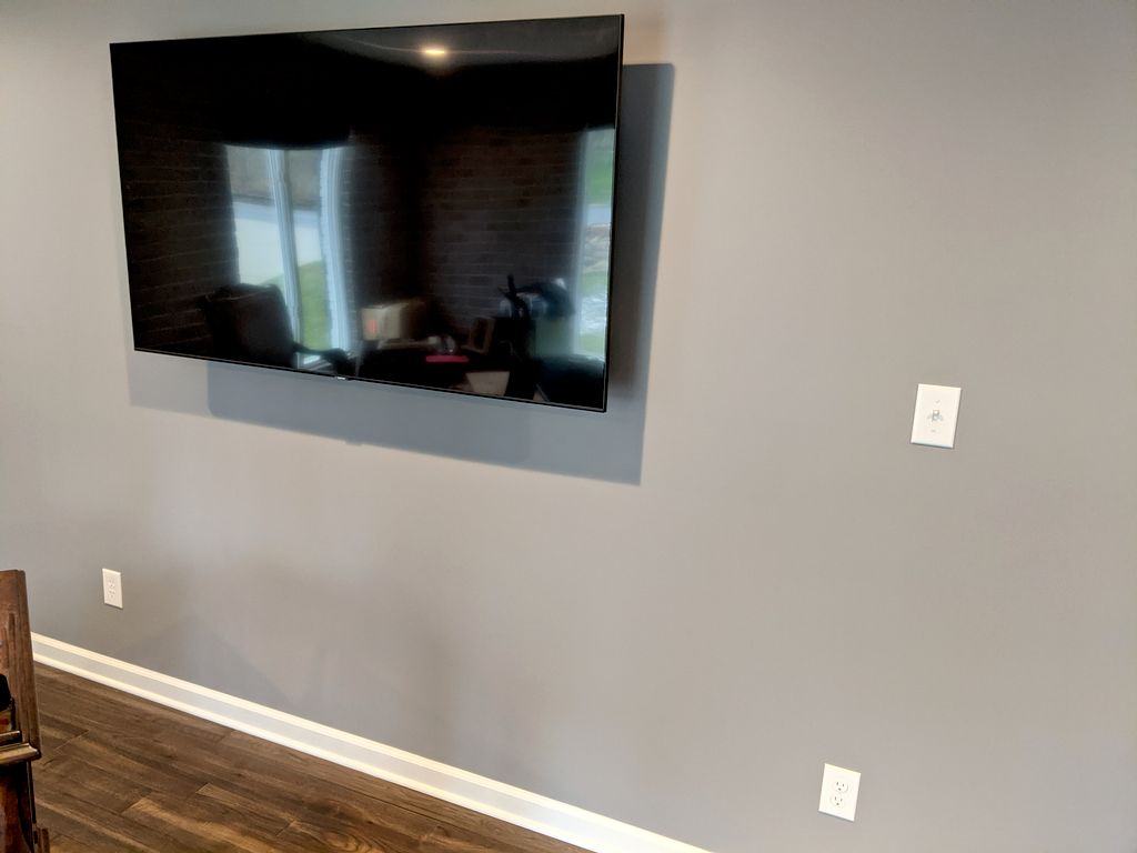 Office electrical, drywall, painting, and tv mount